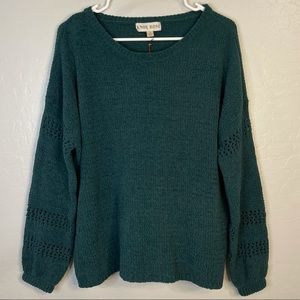 NWT Knox Rose Emerald Green Chenille Sweater